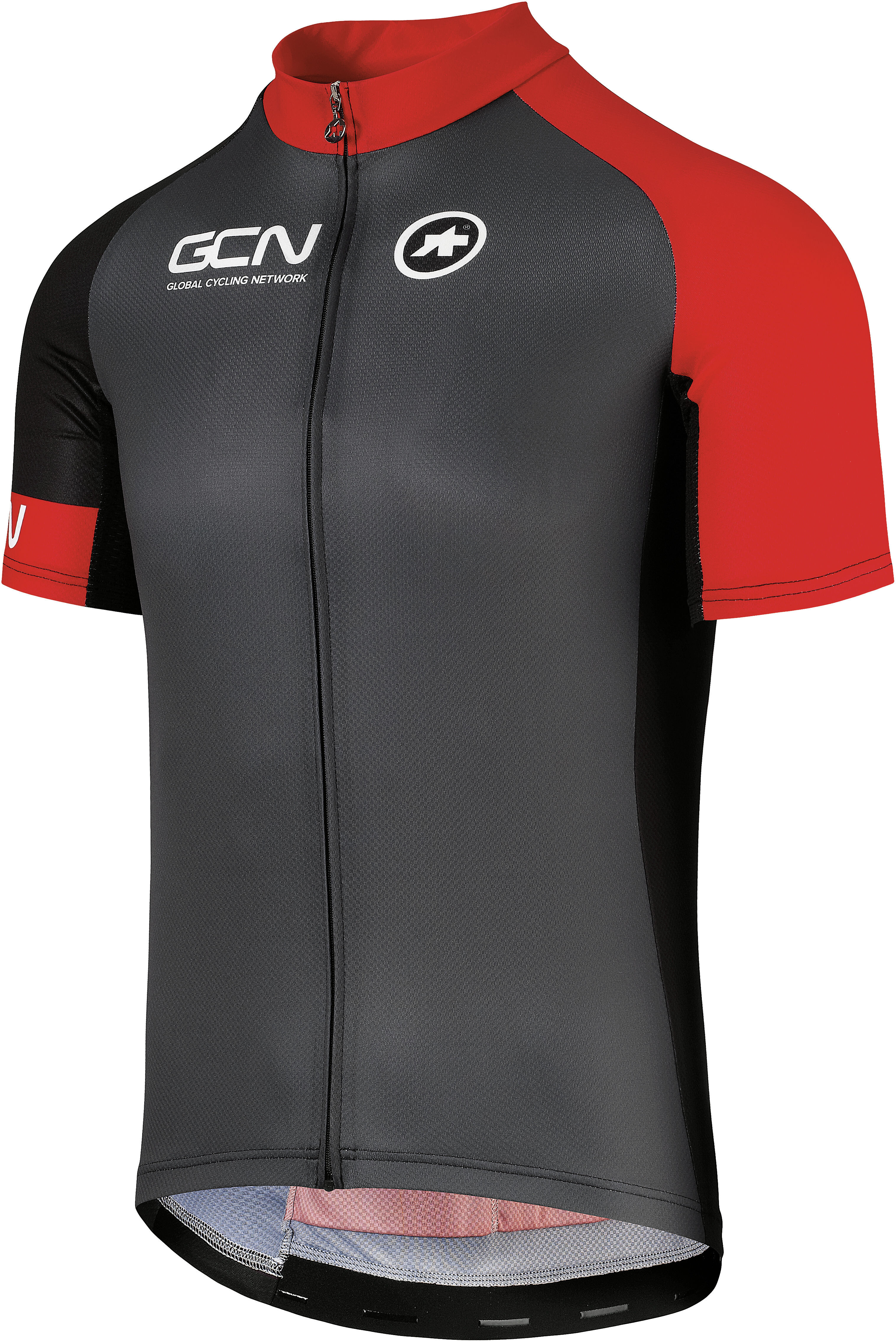 287e16e1a assos GCN Pro Training Bike Jersey Shortsleeve Men grey red at ...